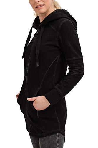 trueprodigy Casual Mujer Marca Sudadera Zip Basico Ropa Retro Vintage Rock Vestir Moda con Capucha Manga Larga Slim fit Designer Fashion Sudadera Hoodie, Colores:Black, Tamaño:XS