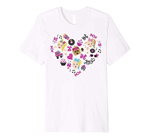 JoJo Siwa Emoji Heart Cupcakes And Candy Premium T-Shirt