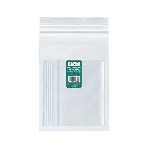 PKA 16396 - Pack 100 bolsas plástico autocierre