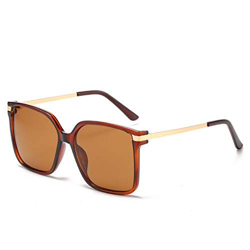 YTYASO Gafas de Sol cuadradas Grandes para Pesca, Gafas de Sol de Color metálico progresivas para Mujer, Gafas de Sol para Mujer