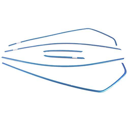 HIGH FLYING Laterales de ventana cromados molduras de acero inoxidable cromado para Golf 8 Mk8 2020 2021 (superior 6 unidades)