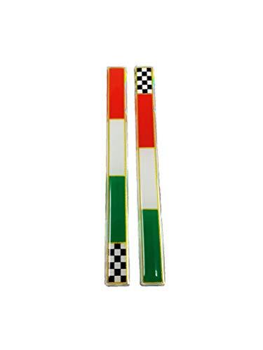 quattroerre 14080Sticker adhesivo 3d bandera Slim Italia Ajedrez dx-sx