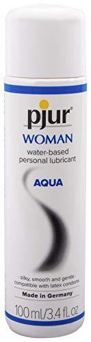 pjur WOMAN AQUA - Gleitgel auf Wasserbasis - spendet Feuchtigkeit & pflegt - ph-optimiert - Sanft zur Haut - 1er Pack (1 x 100 ml)