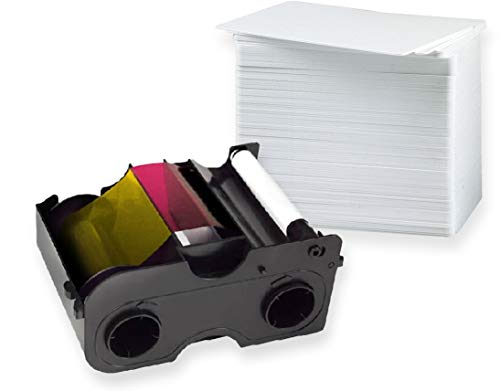 HID Fargo C50 YMCKO Farbband [ 45440 ]   Paket mit 100 Plastikkarten von Karteo