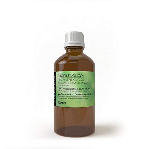 Essenciales - Propilenglicol USP - Pureza Certificada - 1 Litro - PG Base | Uso Farmacéutico - Grado Alimentario - Vapeo