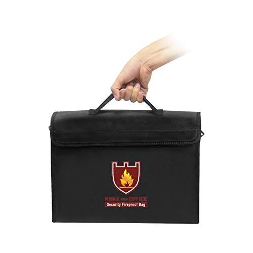 Aibecy Bolsa para documentos ignífuga, bolsa para archivos, tarjetas de crédito, pasaporte, objetos de valor, organizador de almacenamiento seguro