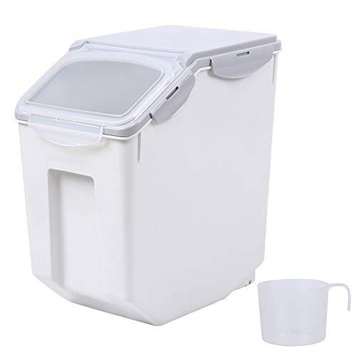 Fdit Aufbewahrungsbehälter für Tiernahrung, luftdichter Kunststoff-Haustierhund Katze Tier Tier Trockenfutter Aufbewahrungsbox Fassspender(L)