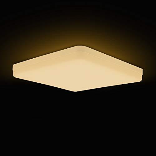Hoshurly LED Deckenleuchte 36W Neutralweiß Quadrat, Einfache Installation Deckenlampe 3240LM 4000K Lampen für Schlafzimmer, Wohnzimmer, Kinderzimmer, Küche, Balkon, Korridor