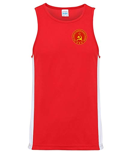 Nation CCCP Sowjetunion Trikot Tank Top Athletic Sport Gym ATH FH-R (L)