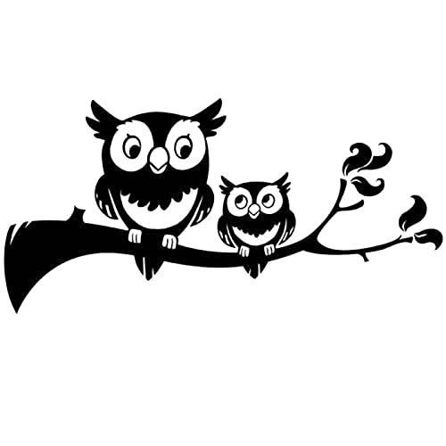 A/X 15 * 7.3cm Owls Tree Branch Decal Sticker Cute Kids Baby Funny Car Window Bumper Novelty JDM Drift Vinyl Decal Sticker