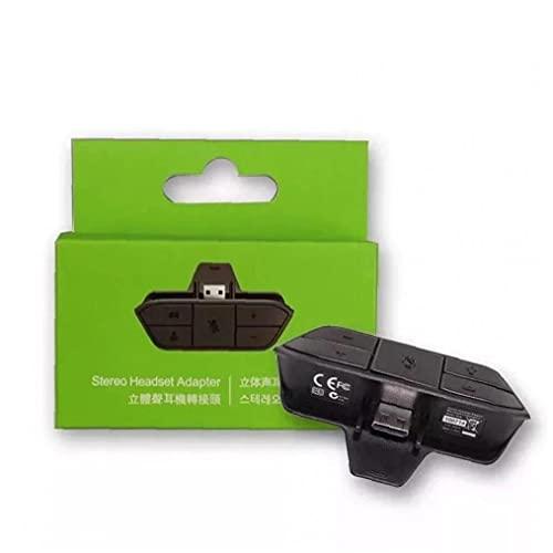 Adaptador de auriculares estéreo 3.5mm Audio Jack compatible con XBOX ON One a prueba de polvo Convertidor de auriculares