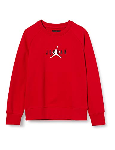 Nike Jordan Air Crew T-Shirt für Kinder, Jungen, Shirt, 956872, Rosso (Gym Red), 12-13 anni