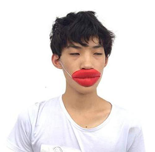 Hpybest sexy lippen opgeblazen mond rekwisieten worst rode lippen dikke mond halloween grappige horror latex maskers verjaardag partij magische rekwisieten