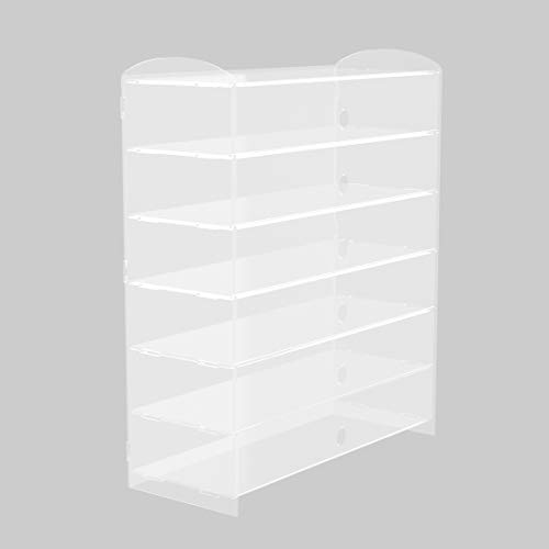 Cake Display Cabinet, 6 Tier Cake Cabinet, 5mm Pastry Display Cabinet, Acrylic Display Case, Cake Cupcake Donuts Display Box - 49×24×74cm