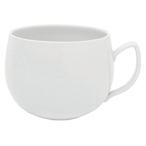 DEGRENNE - Salam Thé lot de 6 tasses à dejeuner, porcelaine - Blanc