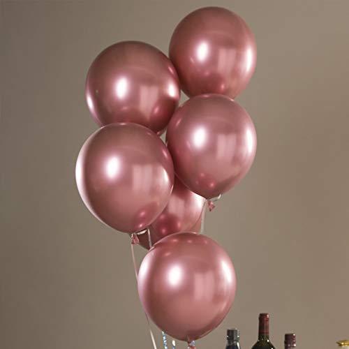30,5cm Mat Ballons en latex, 50packs à l'hélium ronde Mat en latex Mariage Superbe décoration de fête Ballons free size rose gold