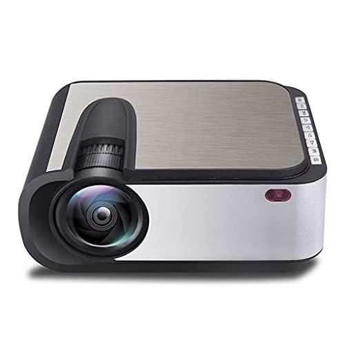 YUTRD CUJUX Proyector LED Full HD 2200 lúmenes Home Cinema WiFi USB AV SD Compatible Proyector de TV pequeño (Color : Android Version)
