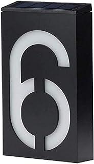 Keeda Led-verlichting op zonne-energie, waterdicht, buitenwandlamp, huisnummerlamp, huisnummerplaat, verlicht bordje (6)
