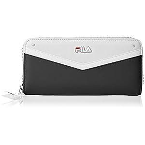 [フィラ] 財布 レディース 長財布 ラウンドファスナー V字 切り替え FIMS-0211BK ブラック