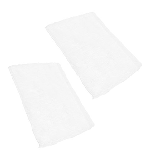 Fityle 2 Pcs de Almohadillas de Fietro de Poliéster Accesorios para Limpiadoras de Vapor - Blanco, S