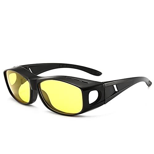 LWZ Día y Noche Gafas de visión Nocturna de película Amarilla Gafas de Sol Gafas de miopía Gafas a Prueba de Viento