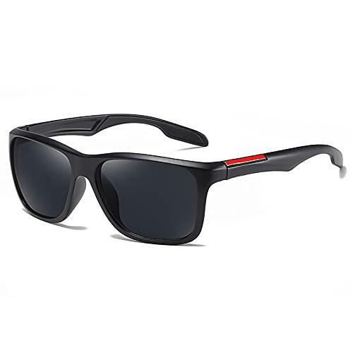WANGZX Gafas De Sol Cuadradas para Hombre Gafas De Sol para Hombre Gafas De Sol Retro para Hombre Negrogris