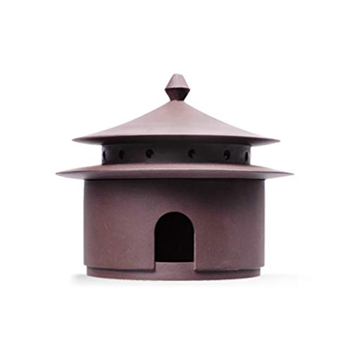 HJXSXHZ366 Quemador de Incienso de cerámica Hecho a Mano HJCA con Quemador de Incienso Peso Neto: 270 g (Aproximadamente) Artesanía Tradicional China Tradicional (tamaño: 4.25 * 3.74 Pulgadas)