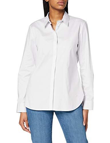 BRAX Damen Style Victoria Hemdkragen Klassisch Bluse, Weiß, 38