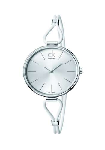 Calvin Klein Damen Analog Quarz Uhr mit Edelstahl Armband K3V231L6