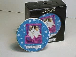 Keith Kimberlin Kitten in Pink Box Ceramic Coaster Set