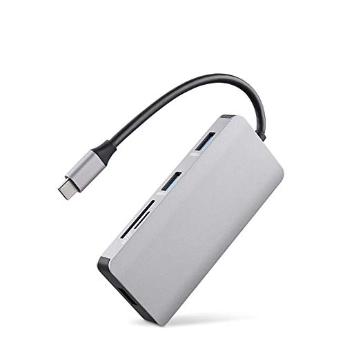 Type-c Docking Station, 8-in-1 Hub Usb 3.0 2.0 Pd Fast Charge Compatible with Windows Xp/vista, Win 7/win8/win 10, Mac Os, Linux, Android and Other Systems