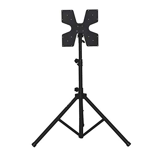 The Audio2000'S AST4214 Patented Heavy-Duty Flat-Panel/TV Monitor Stand with Tripod Legs and Foldable Universal Mount & Hardware Compatible with VESA 100x100, 200x100, 200x200, 400x400 Hole Patterns