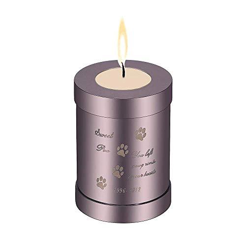 HYY-YY 1Stks crematie Urns voor menselijke as houder huisdier Urn Funeral Memorial Kandelaar Keepsake Sieraden