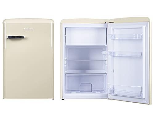 Amica Retro Design KS 15615 B Kühlschrank mit Gefrierfach - Beige, Retro-Design, A++