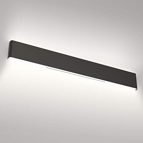 Aipsun 43.3in/40W Modern Black Vanity Light Fixtures LED Black Bathroom Wall Light Up and Down Bathroom Lighting Fixtures White Light 5000K