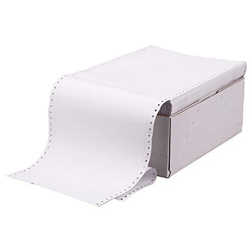 2000x Tabellierpapiere Endlospapiere Weiß ohne Vordruck 1-fach, 240 mm x 12 Zoll