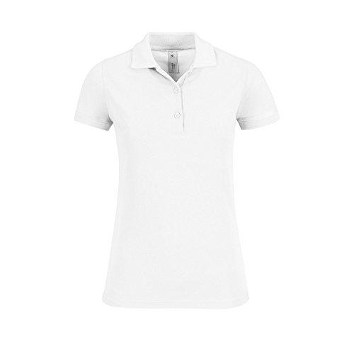 B&C Collection Ladies Safran Timeless Three Button Cotton Polo Shirt