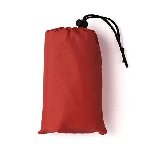 KJBGS Außenmatte wasserdichte Taschenstrand Outdoor Camping Matte Decke Lightweight Compact Outdoor Picknickmatte Bodenscheiben Tarp Camping Matte Tragbare Campingmatte (Color : Red, Size : 1x1.4M)