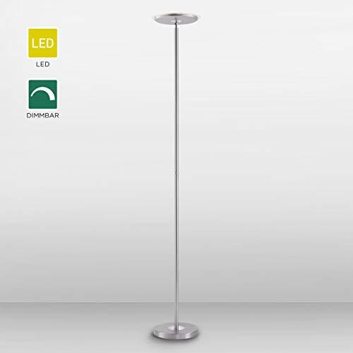 LED-Deckenfluter, dimmbar, Touch-Dimmer, Stehlampe, 3000 Kelvin, Wohnraumleuchte, warmweiss, Standlampe