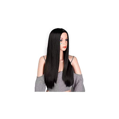 AKASHKRISHNA Full Head Long Hair Women Wigs Natural Hair Black or brown Can Be Curled And Straighten Free Wig Cap