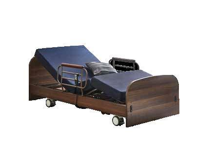電動3モーター リクライニング ベッド (マットレス・手すり2本付き)開梱設置配送サービス (キャスター4個セットのみの販売)