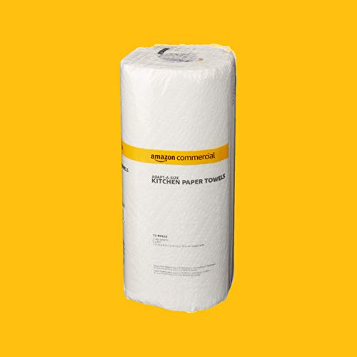 AmazonCommercial Adapt-a-Size Kitchen Paper Towels, 140 Towels per Roll, 12 Rolls