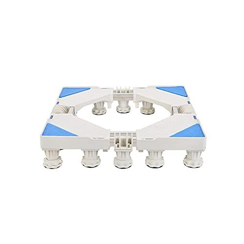 Base per Lavatrice Tubi Doppi Supporto per Frigorifero Larghezza Lunghezza telescopica 50-72 cm Vassoi da Pavimento Supporto per condizionatore d Aria Supporto per condizionatore d Aria Muto antivib