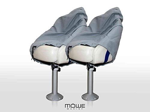 MÖWE MARINE 2-delige set afdekking voor bootstoelen lichtgrijs beschermhoes stoelbeschermer stuurstoel artikel 3210