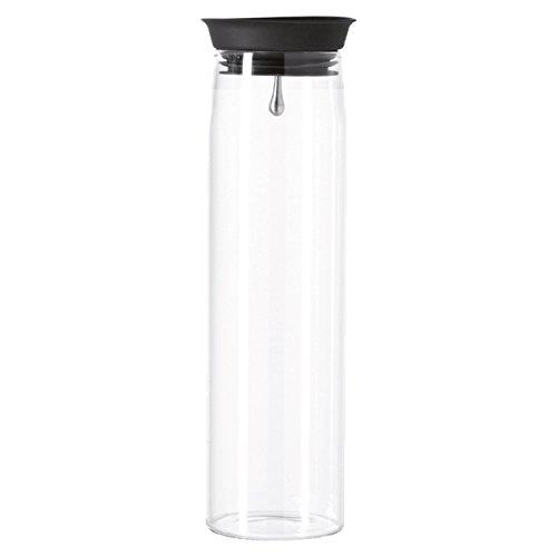LEONARDO Karaffe Brioso 1 Liter, Glas, Wasserkaraffe mit Deckel, Kurg, Glaskanne, handgemacht , 050848