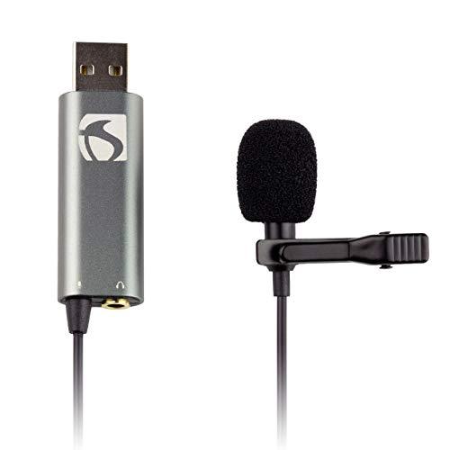 Industriestandard Sound ISSLM200 Lavalier-Mikrofon für iPhone und Android, Smartphones USB-Ansteckmikrofon, 3 mm