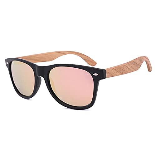 Alta calidad sombra para mujer pierna de madera diseñador estilo gafas de sol bambú templo polarizado cebra poción gafas de sol-06