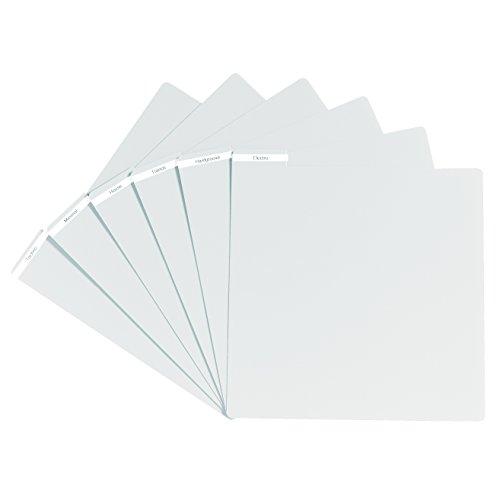 Glorious Vinyl Divider white - Ordnung in der Schallplattensammlung, Reiter für Beschriftungen oder Sticker