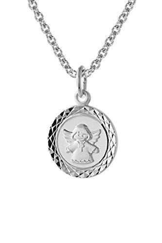 trendor Engel-Anhänger für Kinder Weißgold 585 (14 Kt.) mit Silberkette liebevoller Goldschmuck für Kids, dieses Schmuckstück ist eine tolle Geschenkidee, 75326