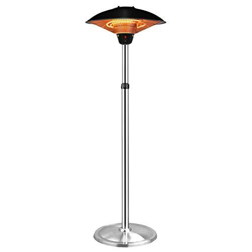 Aokairuisi Freestanding Patio Heater Outdoor Electric Heater Umbrella-Shaped Adjustable Height Heater Indoor Infrared Heater (B)